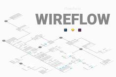 Wireflow Flowcharts by Web Donut on @creativemarket