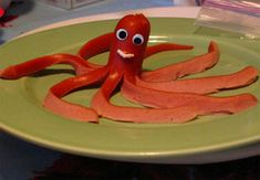 We posted about the WNYC and Amy Sedaris Craft Challenge earlier this week. CRAFT friend, Julie Jackson of Subversive Cross Stitch read about it here and Cute Snacks, Cute Food, Good Food, Yummy Food, Kid Snacks, Octopus Hotdogs, Bible School Snacks, Jack Food, Tapas