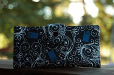 Wallet clutch womens Police call box custom handmade vegan wallet cotton doctor who $56.00