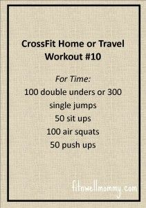 CrossFit Home or Travel WOD #10