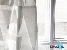 Geometric curtains- Made to Measure- Grey- lined curtains- bespoke curtains- Scandinavian curtains- modern curtains- custom curtains- lined by Kuushti on Etsy https://www.etsy.com/listing/467285111/geometric-curtains-made-to-measure-grey