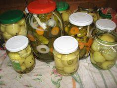 Fakanálforgató tollforgató: Almapaprika ecetben Naan, Preserves, Pickles, Cucumber, Mason Jars, Recipes, Food, Preserve, Recipies