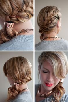 Want a nice quick French braid hairstyle? This is the definite one for you! Try it out!