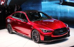 Infiniti Eau Rouge Prototype Makes Dynamic Debut At Goodwood: Video Infiniti Q50 Red Sport, 2015 Infiniti, Mercedes Benz E63 Amg, New Mercedes, Infiniti Q50 Interior, Volvo V60, Audi Rs, Sub Brands, First Drive