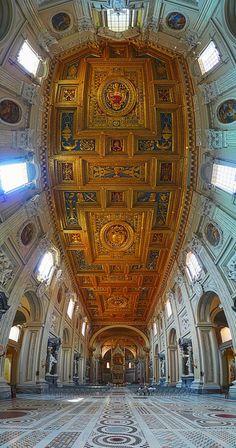 The Nave, St John Lateran, Rome, Italy
