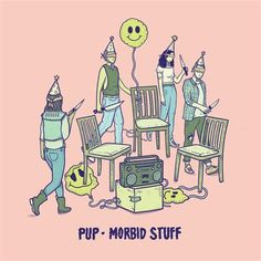 Morbid Stuff by PUP, released 05 April 2019 Morbid Stuff Kids Free At Last See You At Your Funeral Scorpion Hill Closure Bloody Mary, Kate and Ashley Sibling Rivalry Full Blown Meltdown Bare Hands City Pop Punk, American Horror Story Tattoo, Meow Wolf Santa Fe, Funeral, Musica Punk, Emo, Pochette Album, Sibling Rivalry, Album Covers