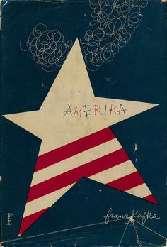 Amerika by Franz Kafka. Designed by Alvin Lustig. 1946. #book