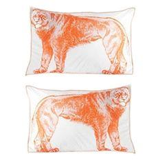 "Thomas Paul 600-thread count standard silk-screened ""Lion"" shams ($100)"