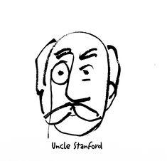 Harrumph. Uncle Stanford. #pentelbrushpen Pentel Brush Pen, Scribble, Writer, Drawings, Illustration, Writers, Doodles, Sketches, Illustrations