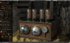 Old Bell Style steampunk nixie clock
