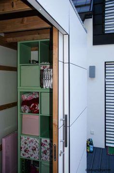 design #gartenhaus @gart_eins, by design@garten - Heilbronn, Germany #Gartenhaus #shed #Gerätehaus #Flachdach # HPL