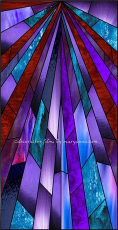 Glory Purple Rays Decorative Window Film
