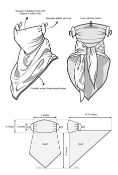 Sewing Hacks, Sewing Tutorials, Sewing Projects, Tutorial Sewing, Easy Face Masks, Diy Face Mask, Sewing Clothes, Diy Clothes, Diy Mask