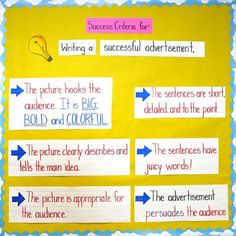 "--> ""Success Criteria"" provides students with a strategy to help guide and organize their writing, as well as helping them independently assess their progress with specific feedback. Assessment For Learning, Learning Targets, Learning Goals, Formative Assessment, Student Learning, Media Literacy, Literacy Activities, Teaching Resources, Movement Activities"
