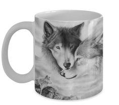 Couple Wolf Heat Sensitive Mug