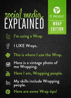 Try these amazing products from It Works! Global ...just go to my web site spiffytiffy.myitworks.com