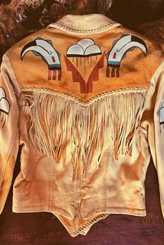 Mystical Daydream 1970s Soft Deerskin Handmade Leather Jacket