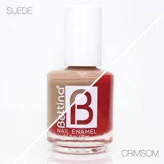 ¡Combina los colores en tus uñas! Una idea es utilizar un color neutral y uno de acento... ¿Cuáles #Bettina #NailEnamel combinarías? #NailPolish