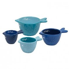 Great Catch! Grab the Fish Measuring Cups, Set of 4, available at the Food Network Store
