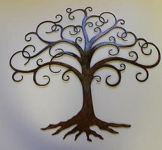 Details about Swirled Tree of Life Metal Wall Art Decor by HGMW tall. Swirled Tree of Life Metal Wall Art Decor by HGMW tall. Outdoor Metal Wall Art, Metal Wall Art Decor, Metal Tree Wall Art, Tree Wall Decor, Leaf Wall Art, Tree Decorations, Metal Art, Wrought Iron Wall Decor, Tree Artwork