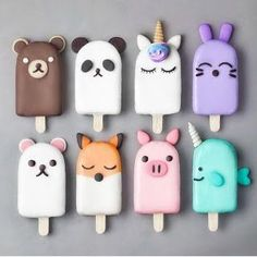 7 or 🐻🐳💖✨ - Fimo / Polymer Clay - Mini Desserts, Delicious Desserts, Dessert Recipes, Magnum Paleta, Kreative Desserts, Cute Baking, Cute Nail Polish, Aesthetic Food, Biscuit Recipe