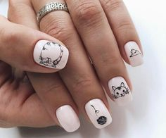 These easy nail art styles are best for you if you're a lassie and attending to attend the casual party. Simple Nail Art Designs, Short Nail Designs, Nail Polish Designs, Cute Nail Art, Easy Nail Art, Cute Nails, Summer Acrylic Nails, Best Acrylic Nails, Manicure Y Pedicure