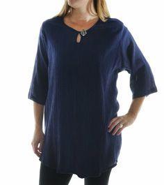 Chai Latte Plus Size Cotton Gauze Midnight Blue Keyhole Swing Top by WeBeBop (0X) Chai Latte by We Be Bop,http://www.amazon.com/dp/B00GCF2YEW/ref=cm_sw_r_pi_dp_b7RCsb1WP609HM84
