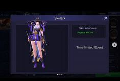 Mobile Legends: Many Protested, Skin Fanny Skylark Can Be Purchased Using Diamond? On this occasion the author will invite you to discuss about one of the latest Fanny skin Skylark that many protested player mobile legends, let's see. Skin Wars, Play Hacks, Mobile Legend Wallpaper, App Hack, Friends List, Skylark, Alucard, Law And Order, Mobile Legends