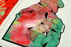 Crystal Lines - Original Drawings - Glass Frame - Mele by karl_addison, via Flickr