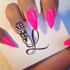 Mat and Raspberry pink nails