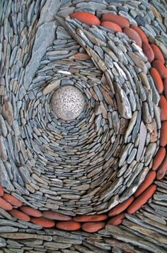 Mosaic of natural stone by Canadian artists Naomi Zettl & Andreas Kunert Pebble Mosaic, Stone Mosaic, Pebble Art, Mosaic Art, Brick And Stone, Stone Work, Caillou Roche, Pebble Stone, Mosaic Projects