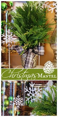 Creating an easy Christmas mantel that will look good all season long!