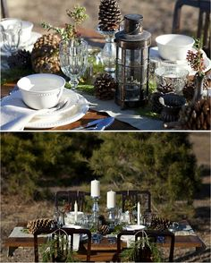 Winter Wedding Inspiration - great table layout