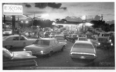 1973 oil crisis. Ft. Lauderdale  had to get gas on odd or even days by your license plate number