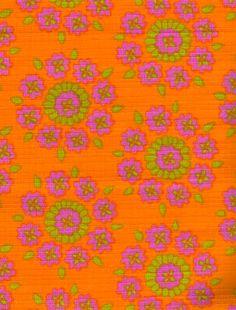 modflowers: vintage fabric designed by Kati Mattila