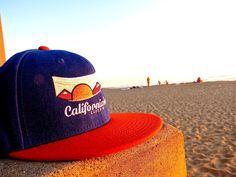 California Good Logo Snapback  (royal blue & tangerine) available at cagoodclothing.com  #california #californiagood #nature #beach #hat #fashion