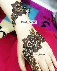 70 Latest Rose Mehndi Designs Of 2018 Rose Mehndi Designs, Stylish Mehndi Designs, Mehndi Designs For Girls, Mehndi Design Photos, Mehndi Designs For Fingers, Dulhan Mehndi Designs, Beautiful Mehndi Design, Latest Mehndi Designs, Henna Tattoo Designs