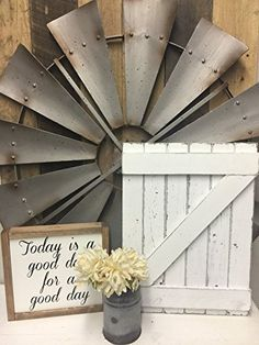 How to build an easy, budget friendly DIY mini barn door which adds great color and character to any space. A great way to add farmhouse charm. Rustic Wood Wall Decor, Barn Door Decor, Hanging Barn Doors, Reclaimed Wood Wall Art, Wood Wall Tiles, Wall Decor Amazon, Windmill Decor, Interior Barn Doors, Farmhouse Decor