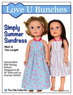 "Simply Summer Sundress (for 18"" dolls such as Journey Girls®)"