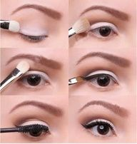 Step by step to create this beautiful, light going out make-up.