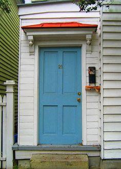 Building Green in Vermont: Front door color