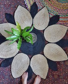 """Do you agree that our exclusive Lotus Rugs are too divine? Such beautiful work, which makes you heart sing. One of our lovely customers, Lynne, had this to say about them """"I am one extremely happy customer. Not only did my rug arrive quickly but its even more gorgeous in the flesh! Those ladies in Bangladesh are so talented. Thank you Helen for making it possible to buy these beautiful quality rugs and knowing I can have peace of mind they have been purchased through fair trade"""". Grab them…"""