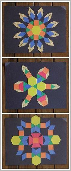 Art & Math for Kids: Create geometric designs using paper shapes! ~BuggyandBuddy.com