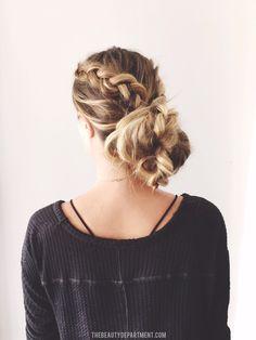 2 braids, 3 ways! (the chignon)