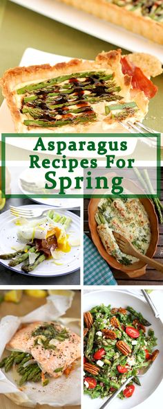Spring is the time for fresh asparagus. Check out this Buzzfeed roundup of beautiful and tasty ways to use the seasonal bounty. Fresh Asparagus, Asparagus Recipe, Entree Recipes, Healthy Recipes, Good Food, Yummy Food, Best Food Ever, Quick And Easy Breakfast, Entrees