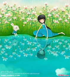 Image detail for -Beautiful romantic Korean illustrations -Korean fashion Korean Illustration, Illustration Girl, Creative Pictures, Digital Art Girl, Whimsical Art, Illustrations Posters, Good Morning, Character Design, Fine Art