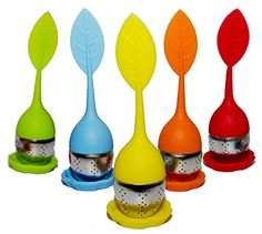 Tea Infuser, Silicone Loose Tea Filter ,Stainless Steel Strainer Steeper, 4Pack Fit for Loose Leaf or Herbal Tea -- This is an Amazon Associate's Pin. Read more reviews of the product by visiting the link on the image.