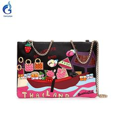2016 new Rivets diamond REAL Leather Messenger shoulder bags Handbags Thailand clutch bags Famous Brand women ship Designer Bags