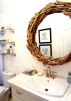 The Cuban In My Coffee: DIY Drift Wood Mirror.......Finally!