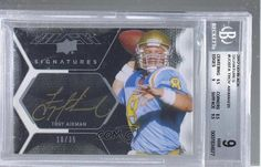 Troy Aikman BGS GRADED 9 #10/35 (Football Card) 2012 Exquisite Collection Upper Deck Black Signatures [Autographed] #UDB-TA -- Awesome products selected by Anna Churchill